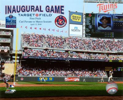 Target Field 2010 Inaugural Game 1st Pitch