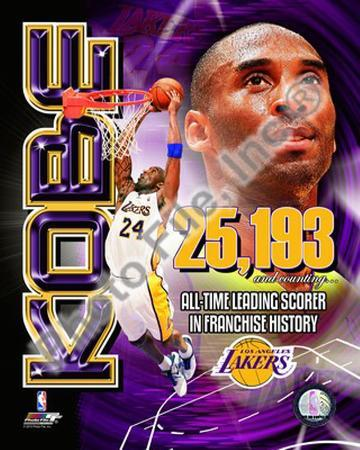 Kobe Bryant Los Angeles Lakers All-Time Leading Scorer