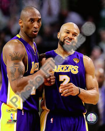 Kobe Bryant & Derek Fisher Game Three of the 2010 NBA Finals