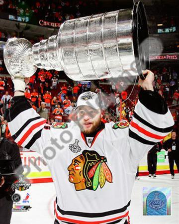 Antti Niemi with the 2009-10 Stanley Cup