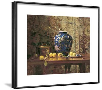 Oriental Vase with Crab Apples