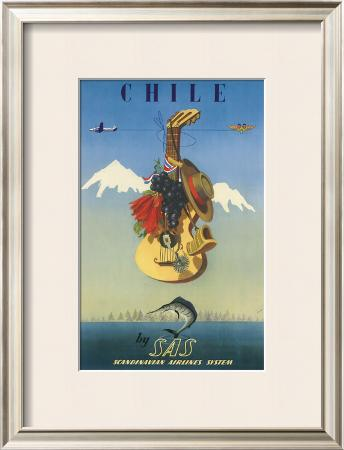 Chile by SAS, Scandinavian Airline System, c.1951