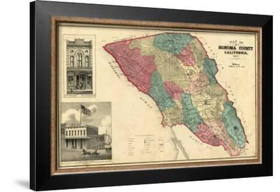 Map of Sonoma County California, c.1877