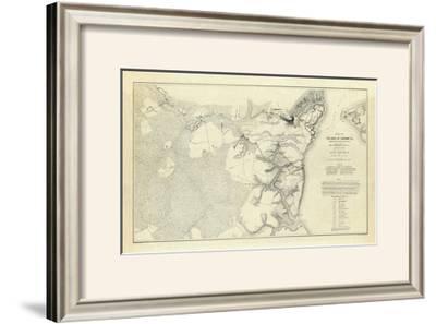 Civil War: Official Plan of The Siege of Yorktown Virginia, c.1862