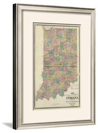 New Sectional and Township Map of Indiana, c.1876