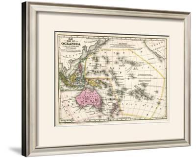 Map of Oceanica, c.1839