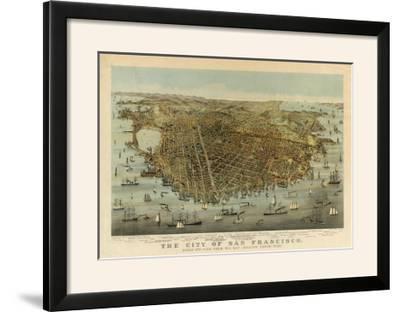 San Francisco Birds Eye View, c.1878