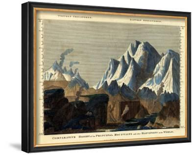 Comparative Height of the Principal Mountains in the World, c.1823