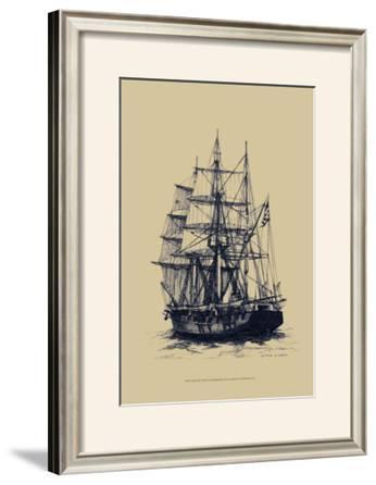 Antique Ship in Blue II