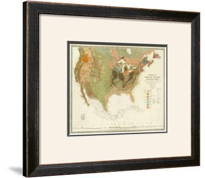 Geological Map of the United States, c.1856