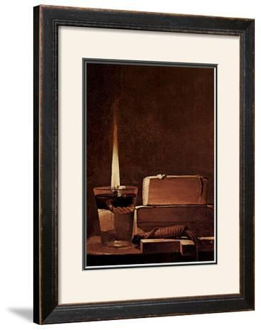 Kerze und Bucher Candlelight Study