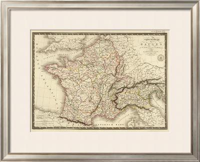 Carte Generale des Gaules, c.1821