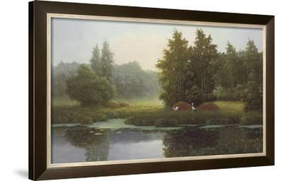 Russian Landscape with Storcks