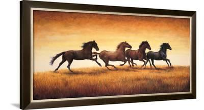 Stallions at Sunset