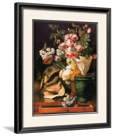 Roses et Autres Fleurs, Coquillages, Tete de Requin et Petrifications, c.1819