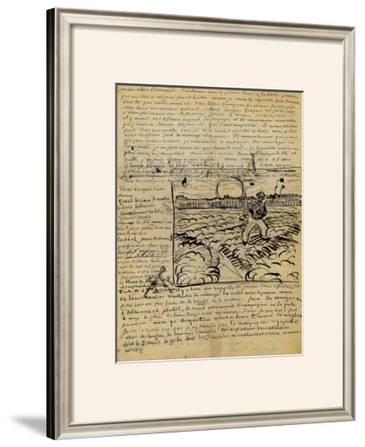 Sketch of the Sower in a Letter to Emile Bernard