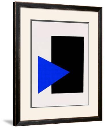 Black Rectangle, Blue Triangle, c.1915