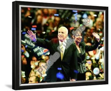 U.S. Sen. John McCain with Republican U.S vice-presidential nominee Alaska Gov. Sarah Palin, Republ