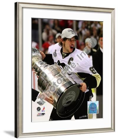 Sidney Crosby Game 7 - 2008-09 NHL Stanley Cup Finals With Trophy