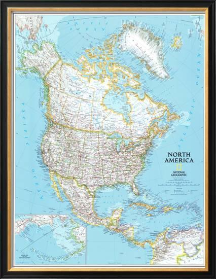 North America Political Map Poster at AllPosters.com