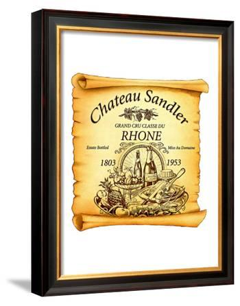 Rhone Wine Label