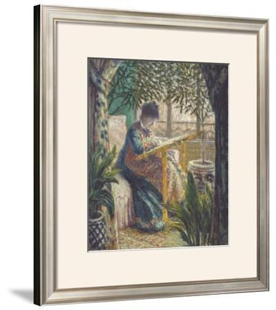 Madame Monet Embroidering, 1875