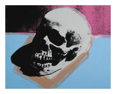 Skull, c.1976 (White on Blue and Pink)