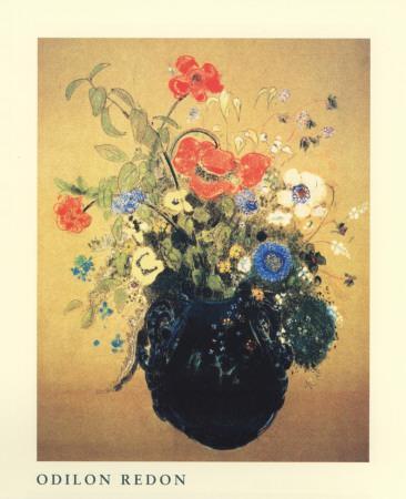 Blue Vase of Flowers