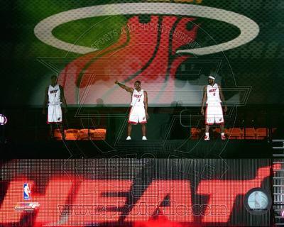 Dwyane Wade, LeBron James, &Chris Bosh 2010 Welcome Party