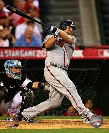 Brian McCann 2010 MLB All-Star Game Three Run Double