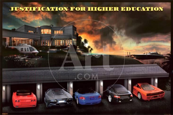Justification For Higher Education Prints at AllPosters.com