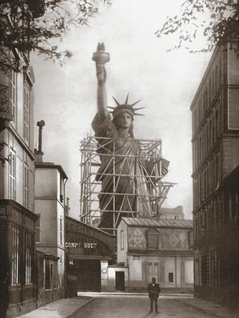 Statue of Liberty in Paris, c.1886