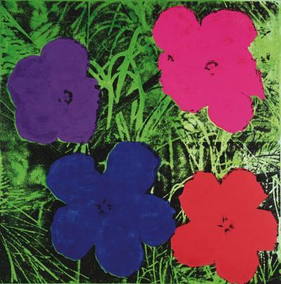 Flowers, c.1964 (1 purple, 1 blue, 1 pink, 1 red)