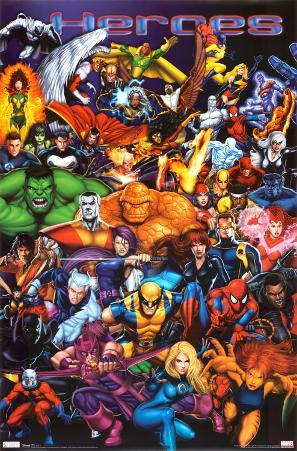 Marvel Heroes - Diptych 1