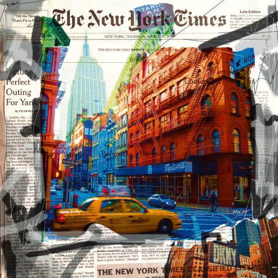 New York Taxi Street City Canvas Wall Art Picture Print Va: Taxi Prints At AllPosters.com