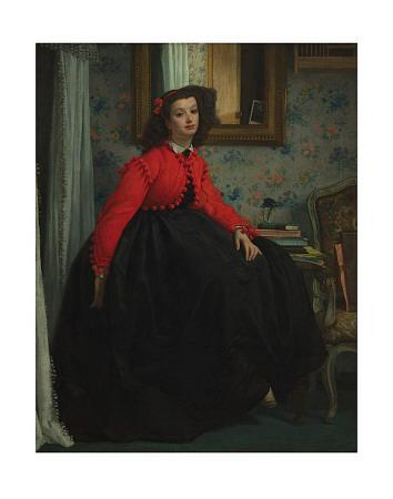 Girl with Red Vest, c.1864