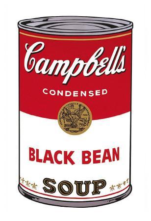 Campbell's Soup I: Black Bean, c.1968