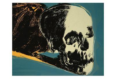 Skull, c.1976 (yellow on teal)