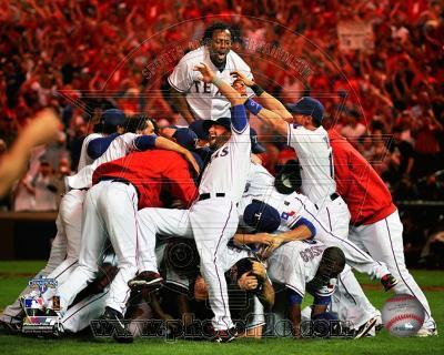The Texas Rangers Celebrate winning the 2010 ALCS