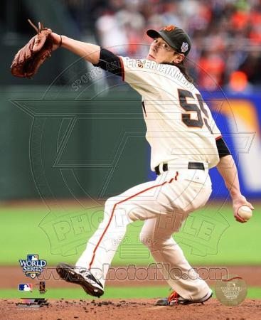 Tim Lincecum Game One of the 2010 World Series Action