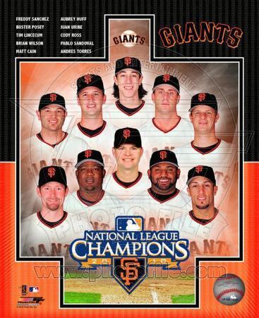 San Francisco Giants 2010 Natinal League Champions Composite