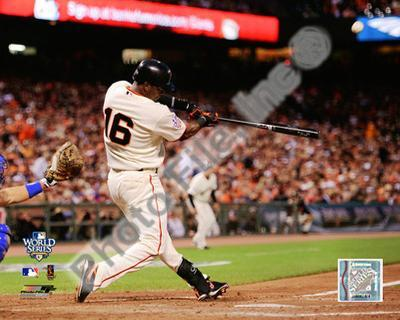 Edgar Renteria Game Two of the 2010 World Series Home Run Action