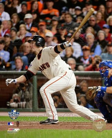 Buster Posey Game Two of the 2010 World Series Action