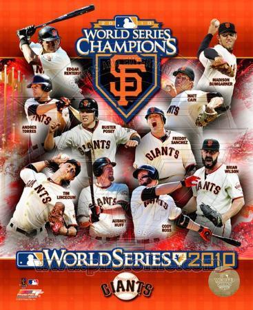 San Francisco Giants 2010 World Series Champions Composite
