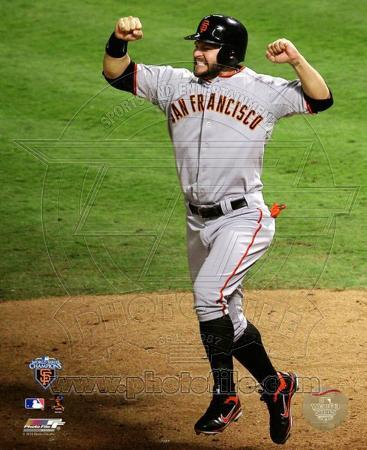 Cody Ross Celebrates Edgar Renteria's 3 Run Home Run Game Five of the 2010 World Series