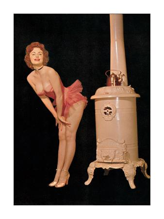 Pin Up and Old Stove