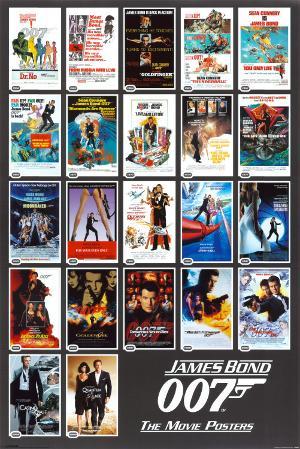 James Bond - 22 Movie Posters