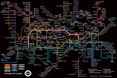 London Underground - Black Map