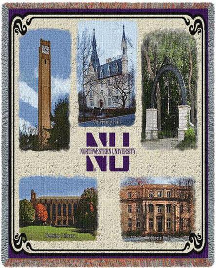 Northwestern University, Collage Throw Blanket at ...