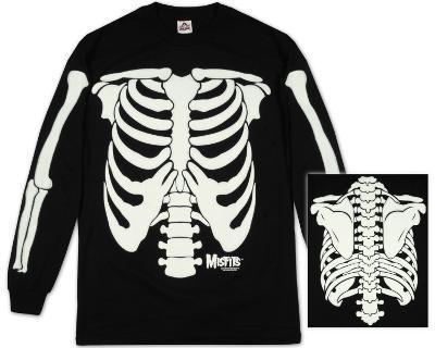Long Sleeve: The Misfits - Glow in the Dark Skeleton